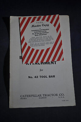 1953 Caterpillar Bulldozer Blade Attachment For No 42 Tool Bar