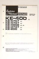 Pioneer Ke-400/5757/4747/4959/3737/200 Original Manual De Servicio/ - pioneer - ebay.es