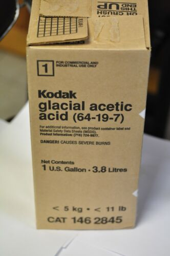 Kodak Cat 146 2845 1 gal. of Glacial Acetic Acid. NOS. LOCAL PICK UP ONLY.