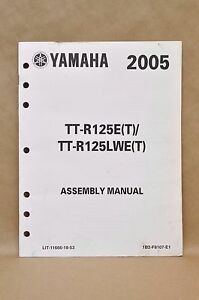 yamaha ttr125 manual | ebay