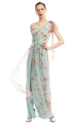RRP €375 ELISABETTA FRANCHI Tulle Maxi Dress Size 40 / S Floral Made in Italy