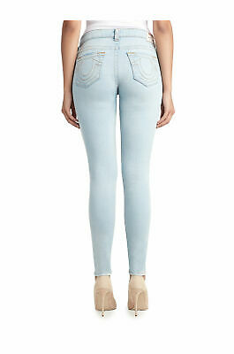 True Religion Women's Super Skinny Jeans Size 26 NWT Pale Sapphire Light Wash Light Sapphire Pale