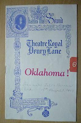 THEATRE ROYAL, Drury Programme 1949- OKLAHOMA! by Oscar Hammerstein 2nd