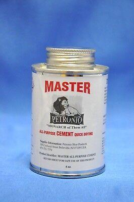 Petronios Master All Purpose Contact Cement Shoe Repair Adhesive Glue- 4 Oz.