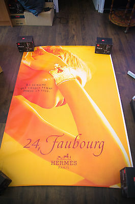 HERMES 24 FAUBOURG 4x6 ft Shelter Original Vintage Fashion Poster 1999