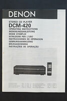Denon Dcm-420 Cd Player Original Manual/user Manual Top Zust -  - ebay.co.uk