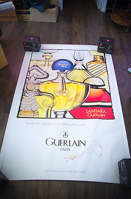 GUERLAIN COLLECTION  4x6 ft Bus Shelter Original Vintage Fashion Poster 1970-89