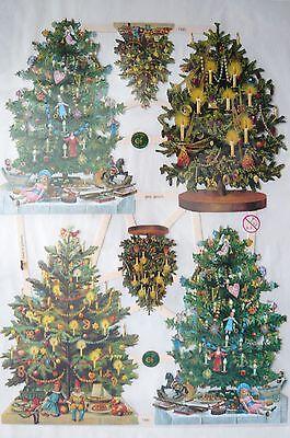 Glanzbilder ef 7390 Christbaum Tannebaum Weihnachten Oblaten Neu 2013 Scraps