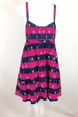 Pink Victorias Secret Womens Jumper Dress Size Small/ Medium Blue Pink Dog
