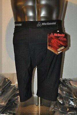 McDavid 750T Adult Men's 5 Pocket Football Compression Girdle Shorts Black L-XL