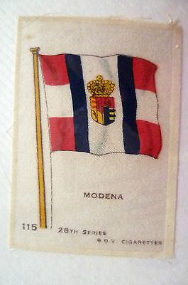 28TH SERIES SILK- MODENA FLAG- B.D.V. CIGARETTES SILK (APX. 6.6X4.6cm)