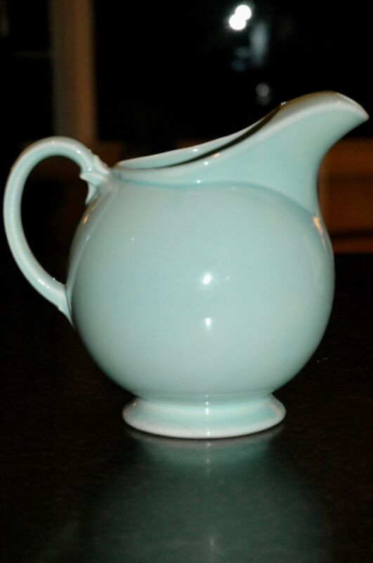 Vintage Turquoise Blue LuRay or Lu-Ray Pastels Pitcher / Jug by TS & T