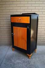 Retro painted Orange vintage sideboard kitchen cabinet hall table Brighton Bayside Area Preview