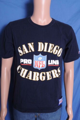 f032e8fae 1994 san diego chargers champion navy blue nfl football pro line t shirt m