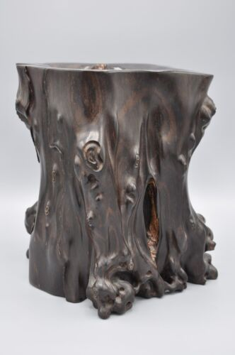 Chinese Zitan Brush Pot with Natural Root Shape