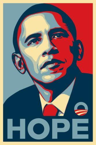 BARACK OBAMA HOPE GLOSSY POSTER Picture 11 x 17 inspiration motivation election