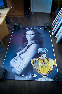 GUERLAIN SHALIMAR LEIBOVITZ B 4x6 ft Shelter Original Vintage Fashion Poster