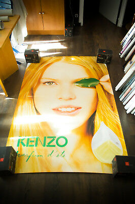 KENZO SUMMER FRAGRANCE A 4x6 ft Bus Shelter Original Fashion Poster 1999