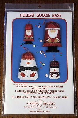 Santa Snowman Drawstring Holiday Goodie Bag 7
