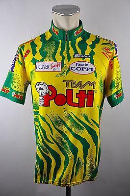 05eb6f315 Santini Team Polti vintage cycling jersey maglia Rad Trikot Gr. XXXL 58cm  25D