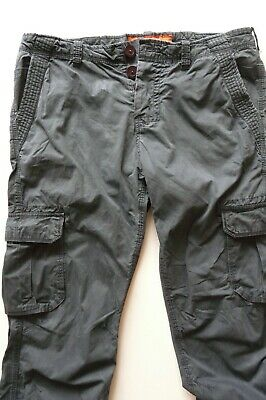 SUPERDRY 100% COTTON DARK GRAY CARGO PANTS sz 38(XL)