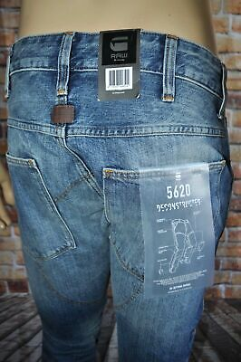 - New G-Star Raw 5620 Deconstructed 3D Low Tapered Leg Medium Aged Jeans