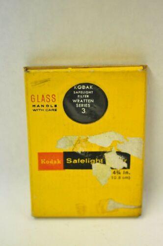 "Kodak 3 1/4"" x 4 3/4"" No. 3 safelight filter. New old stock"