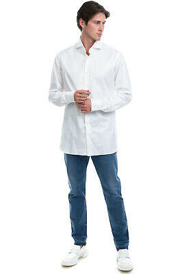 RRP €130 ALESSANDRO GHERARDI Shirt Size 43 / 17 / XL Spread Collar Made in Italy