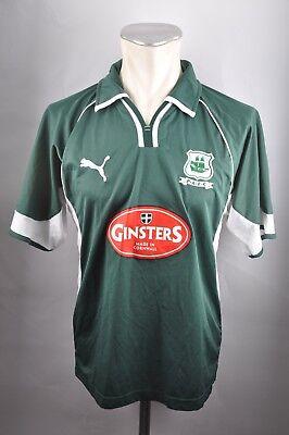 Plymouth Argyle Trikot 2005-07 Gr. M Green Army Puma Jersey England Football  image