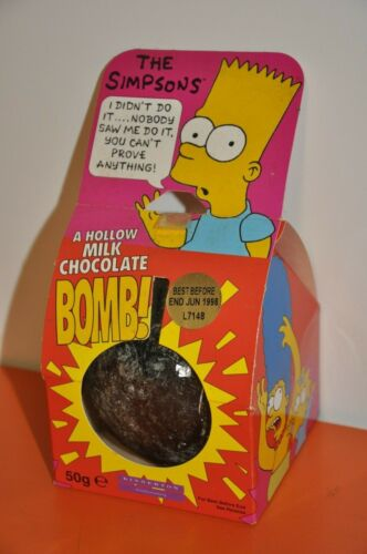 "The SIMPSONS - BART SIMPSON - KINNERTON ""BART BOMB"" UNOPENED - Dated 1997"