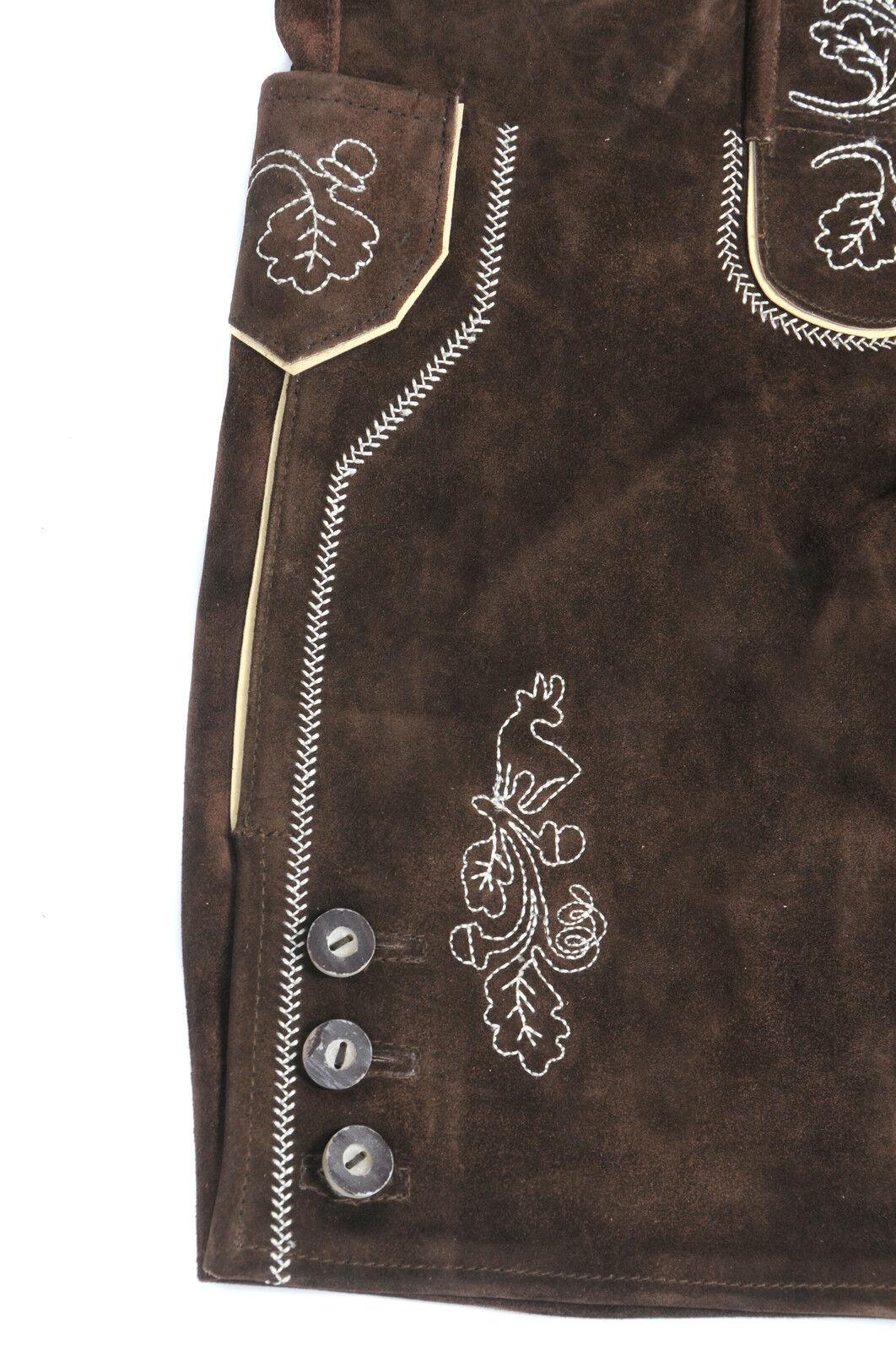 trachten lederhose kurz braun h tr ger herren neu echt. Black Bedroom Furniture Sets. Home Design Ideas