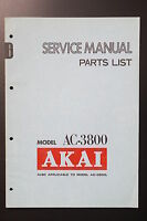 Akai Ac-3800 Original Service Manual/parts List/wiring Diagram O49 -  - ebay.co.uk