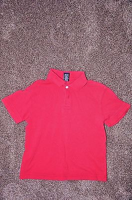 School Uniform Short Sleeved  Shirt - RED - Size XS