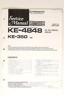 Pioneer Ke-4848 Ke-350 Original Manual De Servicio/instrucciones/ - pioneer - ebay.es