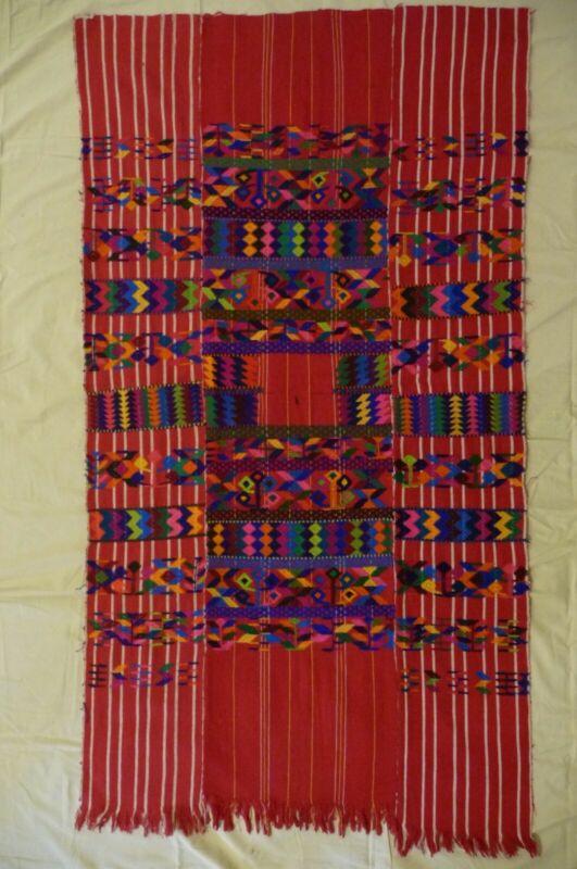 "Vintage Guatemala Lake Atitlan Uncut Embroidered Material for Huipil 29"" x 52"""