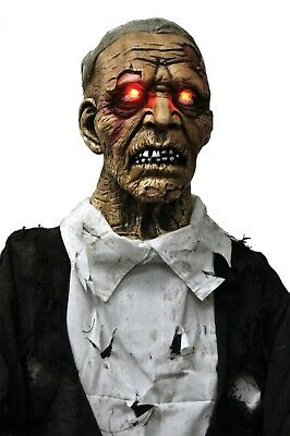LIFE SIZE ANIMATED CORPSE ZOMBIE Lighted HALLOWEEN PROP HAUNT GRAVEYARD SPIRIT - Life Size Animated Halloween Props