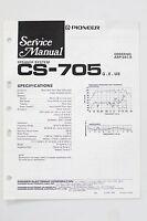 Pioneer Cs-705 Originale Altoparlante Sistema Manuale Di Servizio/istruzioni/ - pioneer - ebay.it