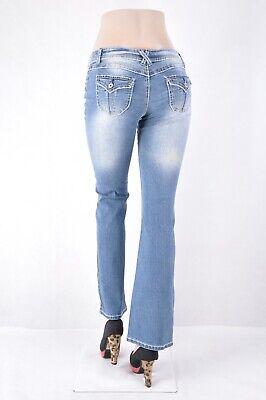 NWT Juniro Bongo Stretch Denim BOOTCUT Jeans size 7 INDIGO washed  WG-717 ()