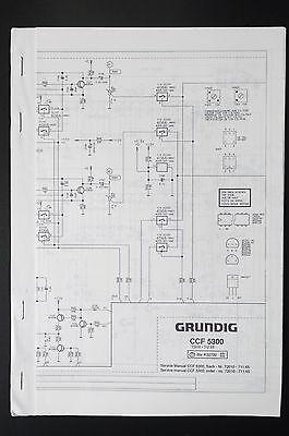GRUNDIG CCF 5300 Original Cassette Deck Service-Manual/Schaltplan/Diagram online kaufen