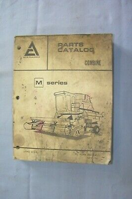 Allis-chalmers M Series Combine Parts Catalog Manual 1974