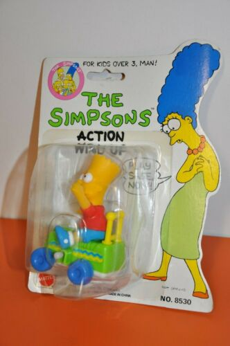 "The SIMPSONS - BART SIMPSON 1990 MATTEL ""ACTION WIND-UP TOY"" (MOC)"
