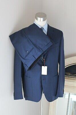 NWT $1895 Caruso Solid Dark Blue Wool Blazer Suit 54 EU/ 44 US BRAND NEW