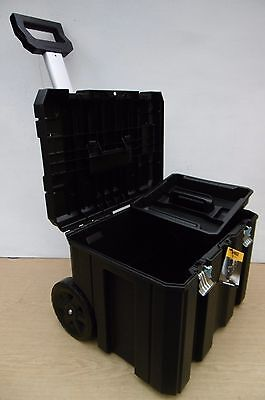 DEWALT TSTAK MOBILE STORAGE TROLLEY UNIT + TOTE TRAY DWST1 75799