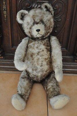 Teddybär Teddy Bär Stoffbär Gelenkbär groß antik sehr alt Dachboden ca. 65cm