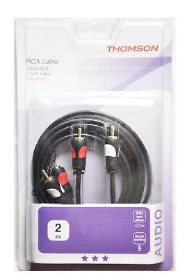 THOMSON 00132200 Cinch-Kabel 2m, vergoldete (24K) 2 Cinch-Stecker  - 2 Cinch-St. gebraucht kaufen  Drage