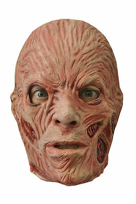 Horror Movie Characters Halloween Costumes (Freddy Kreuger Adult Latex Mask Horror Movie Character Disguise Creepy)