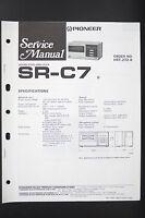 Pioneer Sr-c7 Originale Suono Echo Amplificatore Manuale Di Servizio/istruzioni/ - pioneer - ebay.it