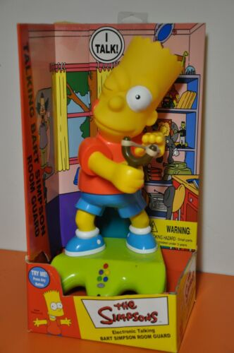 "The SIMPSONS= ""ELECTRONIC TALKING BART SIMPSON ROOMGUARD"" by PLANET TOYS/2001"
