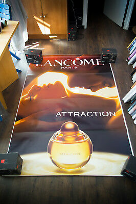 LANCOME ATTRACTION 4x6 ft Bus Shelter Original Fashion Advertising Poster 2003