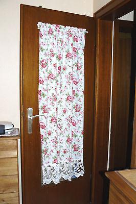 Shabby Tür Vorhang/Hochschrank,Ikea Rosali & breite Plauener Spitze,ca.150X70 cm ()